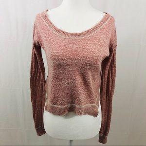 Free People Crop Sweater, Size XS, Pink